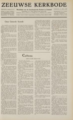 Zeeuwsche kerkbode, weekblad gewijd aan de belangen der gereformeerde kerken/ Zeeuwsch kerkblad 1958-05-09