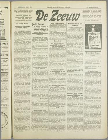 De Zeeuw. Christelijk-historisch nieuwsblad voor Zeeland 1937-03-18