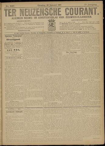 Ter Neuzensche Courant. Algemeen Nieuws- en Advertentieblad voor Zeeuwsch-Vlaanderen / Neuzensche Courant ... (idem) / (Algemeen) nieuws en advertentieblad voor Zeeuwsch-Vlaanderen 1917-01-30