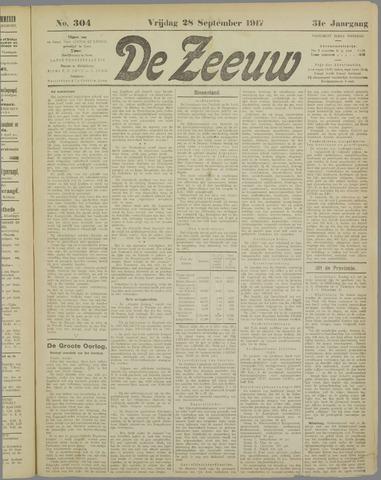 De Zeeuw. Christelijk-historisch nieuwsblad voor Zeeland 1917-09-28