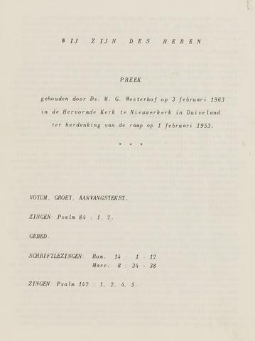 Watersnood documentatie 1953 - diversen 1963