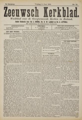 Zeeuwsche kerkbode, weekblad gewijd aan de belangen der gereformeerde kerken/ Zeeuwsch kerkblad 1909-06-11