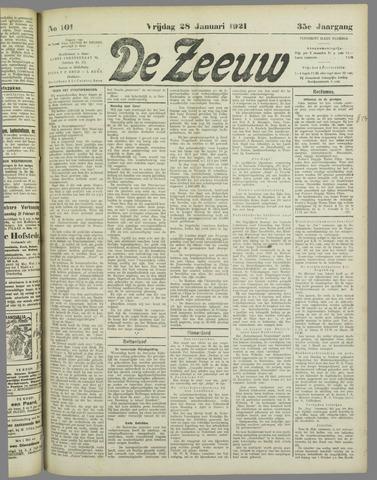De Zeeuw. Christelijk-historisch nieuwsblad voor Zeeland 1921-01-28