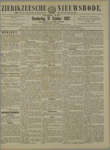 Zierikzeesche Nieuwsbode 1907-10-31