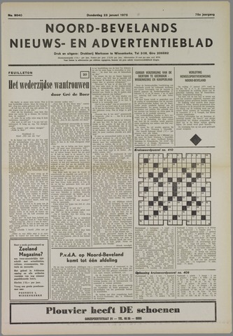 Noord-Bevelands Nieuws- en advertentieblad 1975-01-23