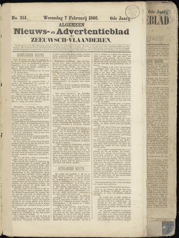 Ter Neuzensche Courant. Algemeen Nieuws- en Advertentieblad voor Zeeuwsch-Vlaanderen / Neuzensche Courant ... (idem) / (Algemeen) nieuws en advertentieblad voor Zeeuwsch-Vlaanderen 1866-02-07