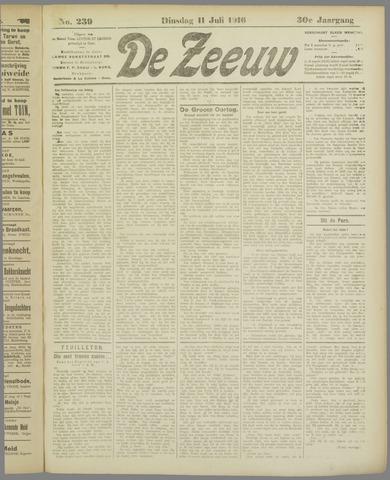 De Zeeuw. Christelijk-historisch nieuwsblad voor Zeeland 1916-07-11