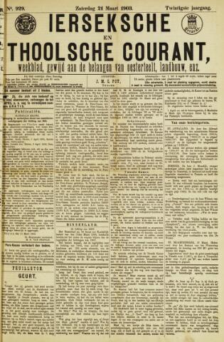 Ierseksche en Thoolsche Courant 1903-03-21