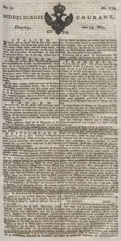 Middelburgsche Courant 1777-05-13