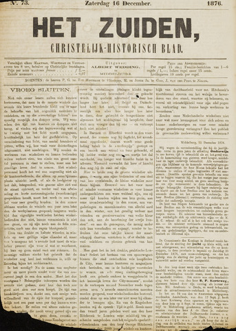 Het Zuiden, Christelijk-historisch blad 1876-12-16