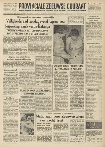 Provinciale Zeeuwse Courant 1960-08-06