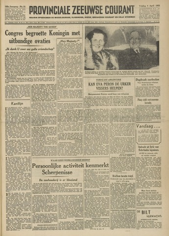 Provinciale Zeeuwse Courant 1952-04-04