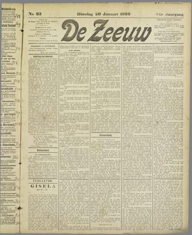 De Zeeuw. Christelijk-historisch nieuwsblad voor Zeeland 1920-01-20