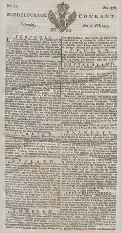 Middelburgsche Courant 1778-02-07