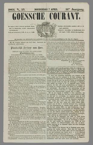 Goessche Courant 1864-04-07