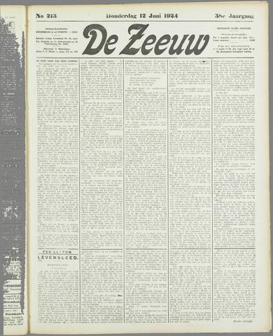 De Zeeuw. Christelijk-historisch nieuwsblad voor Zeeland 1924-06-12