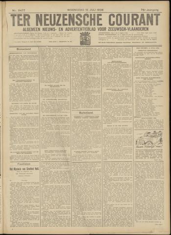 Ter Neuzensche Courant. Algemeen Nieuws- en Advertentieblad voor Zeeuwsch-Vlaanderen / Neuzensche Courant ... (idem) / (Algemeen) nieuws en advertentieblad voor Zeeuwsch-Vlaanderen 1936-07-15
