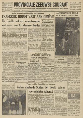 Provinciale Zeeuwse Courant 1958-07-28