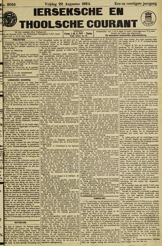 Ierseksche en Thoolsche Courant 1924-08-22