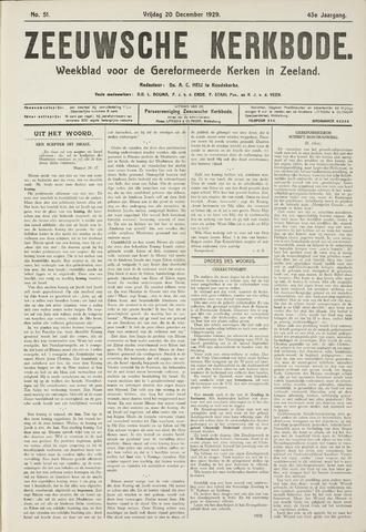 Zeeuwsche kerkbode, weekblad gewijd aan de belangen der gereformeerde kerken/ Zeeuwsch kerkblad 1929-12-20