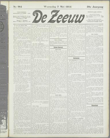 De Zeeuw. Christelijk-historisch nieuwsblad voor Zeeland 1924-05-07