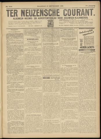 Ter Neuzensche Courant. Algemeen Nieuws- en Advertentieblad voor Zeeuwsch-Vlaanderen / Neuzensche Courant ... (idem) / (Algemeen) nieuws en advertentieblad voor Zeeuwsch-Vlaanderen 1933-09-25