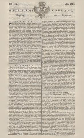 Middelburgsche Courant 1762-09-21