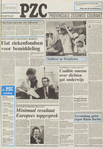 Provinciale Zeeuwse Courant 1987-07-01