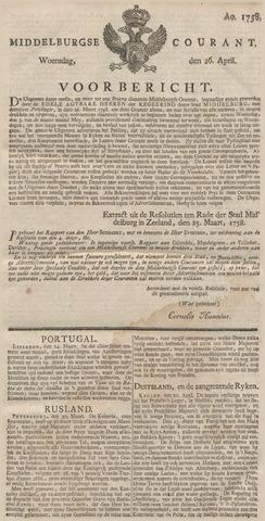 Middelburgsche Courant 1758