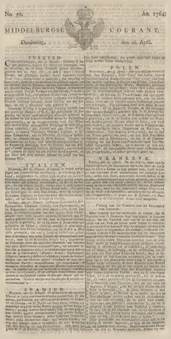 Middelburgsche Courant 1764-04-26