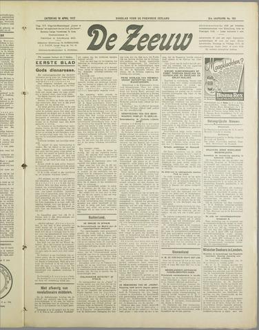 De Zeeuw. Christelijk-historisch nieuwsblad voor Zeeland 1937-04-10