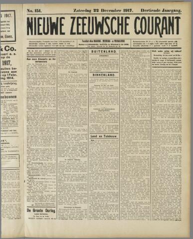 Nieuwe Zeeuwsche Courant 1917-12-22