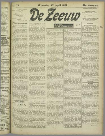 De Zeeuw. Christelijk-historisch nieuwsblad voor Zeeland 1921-04-27