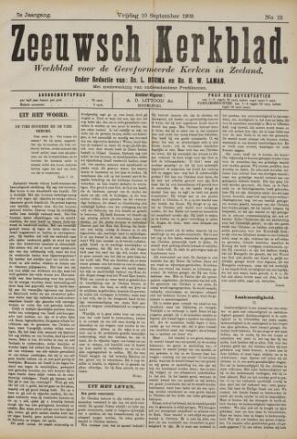 Zeeuwsche kerkbode, weekblad gewijd aan de belangen der gereformeerde kerken/ Zeeuwsch kerkblad 1909-09-10