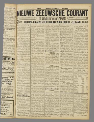 Nieuwe Zeeuwsche Courant 1933-09-07