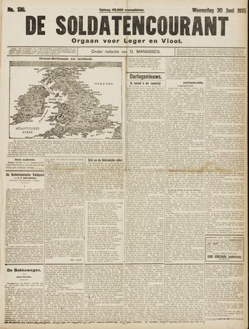 De Soldatencourant. Orgaan voor Leger en Vloot 1915-06-30