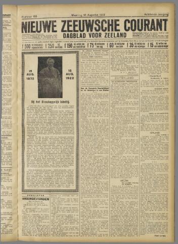 Nieuwe Zeeuwsche Courant 1922-08-14