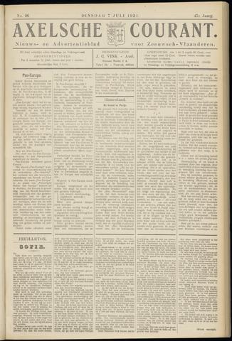 Axelsche Courant 1931-07-07
