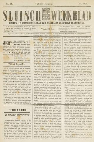 Sluisch Weekblad. Nieuws- en advertentieblad voor Westelijk Zeeuwsch-Vlaanderen 1874-05-08