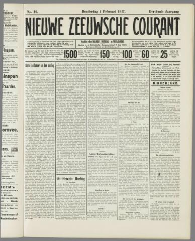 Nieuwe Zeeuwsche Courant 1917-02-01