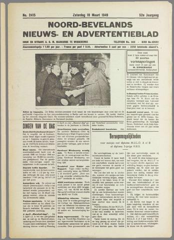 Noord-Bevelands Nieuws- en advertentieblad 1949-03-19