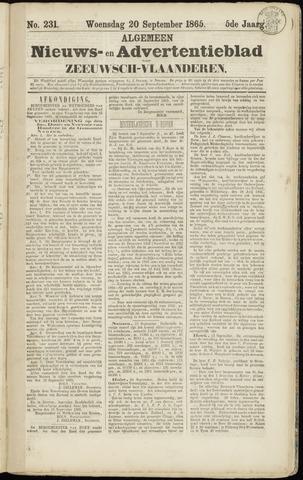 Ter Neuzensche Courant. Algemeen Nieuws- en Advertentieblad voor Zeeuwsch-Vlaanderen / Neuzensche Courant ... (idem) / (Algemeen) nieuws en advertentieblad voor Zeeuwsch-Vlaanderen 1865-09-20