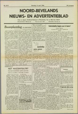 Noord-Bevelands Nieuws- en advertentieblad 1956-04-14