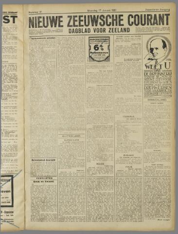 Nieuwe Zeeuwsche Courant 1921-01-17