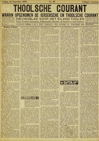 Ierseksche en Thoolsche Courant 1933-09-15