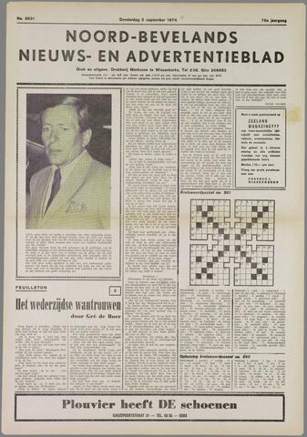 Noord-Bevelands Nieuws- en advertentieblad 1974-09-05