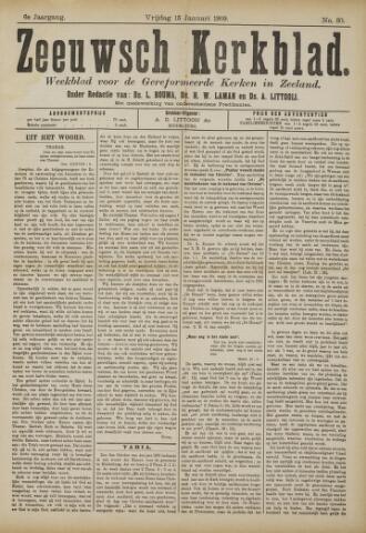 Zeeuwsche kerkbode, weekblad gewijd aan de belangen der gereformeerde kerken/ Zeeuwsch kerkblad 1909-01-15