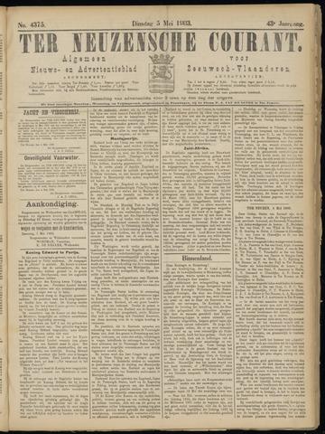 Ter Neuzensche Courant. Algemeen Nieuws- en Advertentieblad voor Zeeuwsch-Vlaanderen / Neuzensche Courant ... (idem) / (Algemeen) nieuws en advertentieblad voor Zeeuwsch-Vlaanderen 1903-05-05