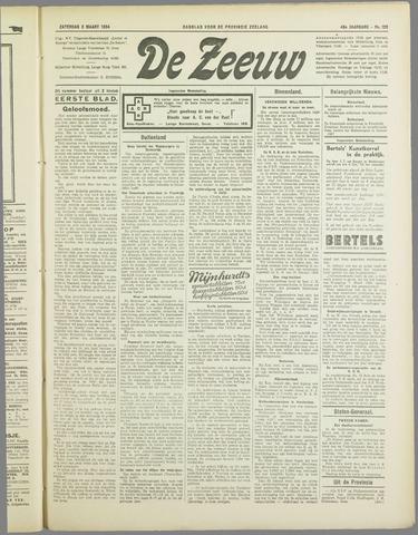 De Zeeuw. Christelijk-historisch nieuwsblad voor Zeeland 1934-03-03