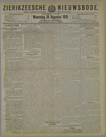 Zierikzeesche Nieuwsbode 1915-08-18